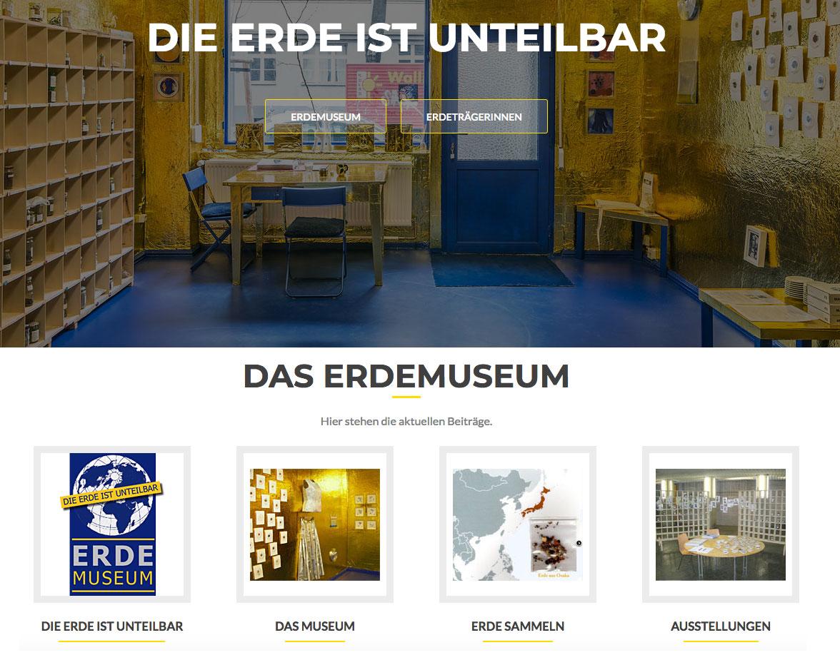 Erdemuseum Websiterealisierung