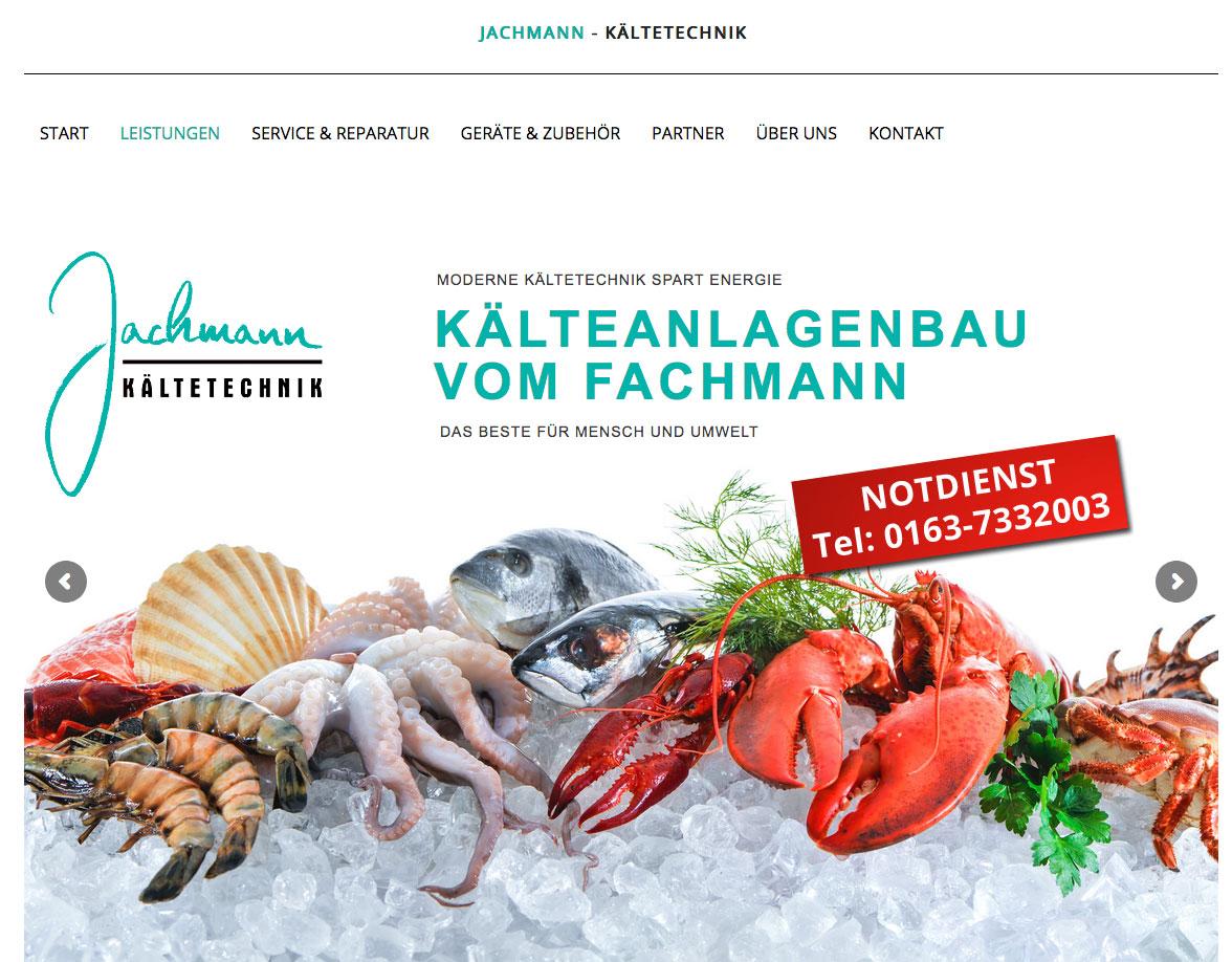 Jachmann Kältetechnik Websiterealisierung
