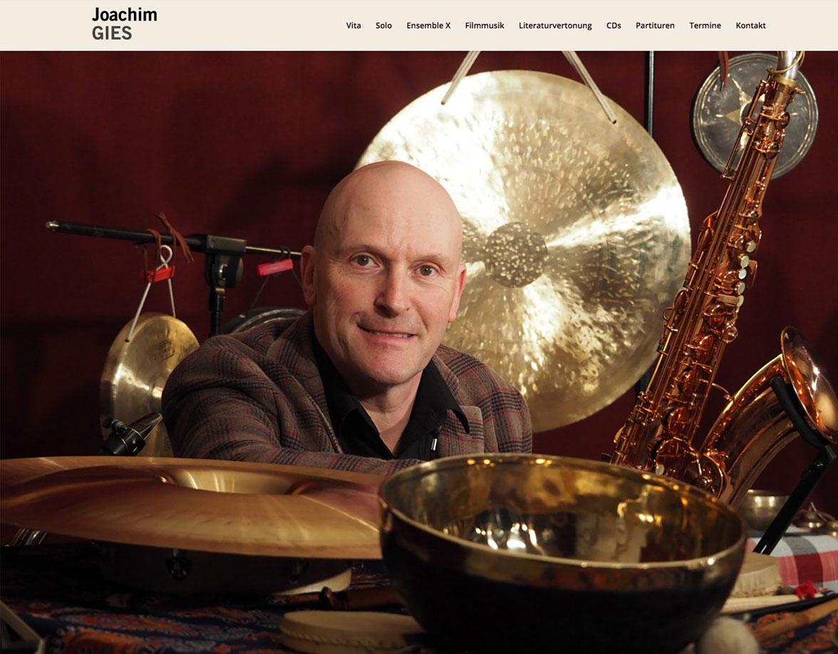 Joachim Gies Saxophonist Websiteentwicklung