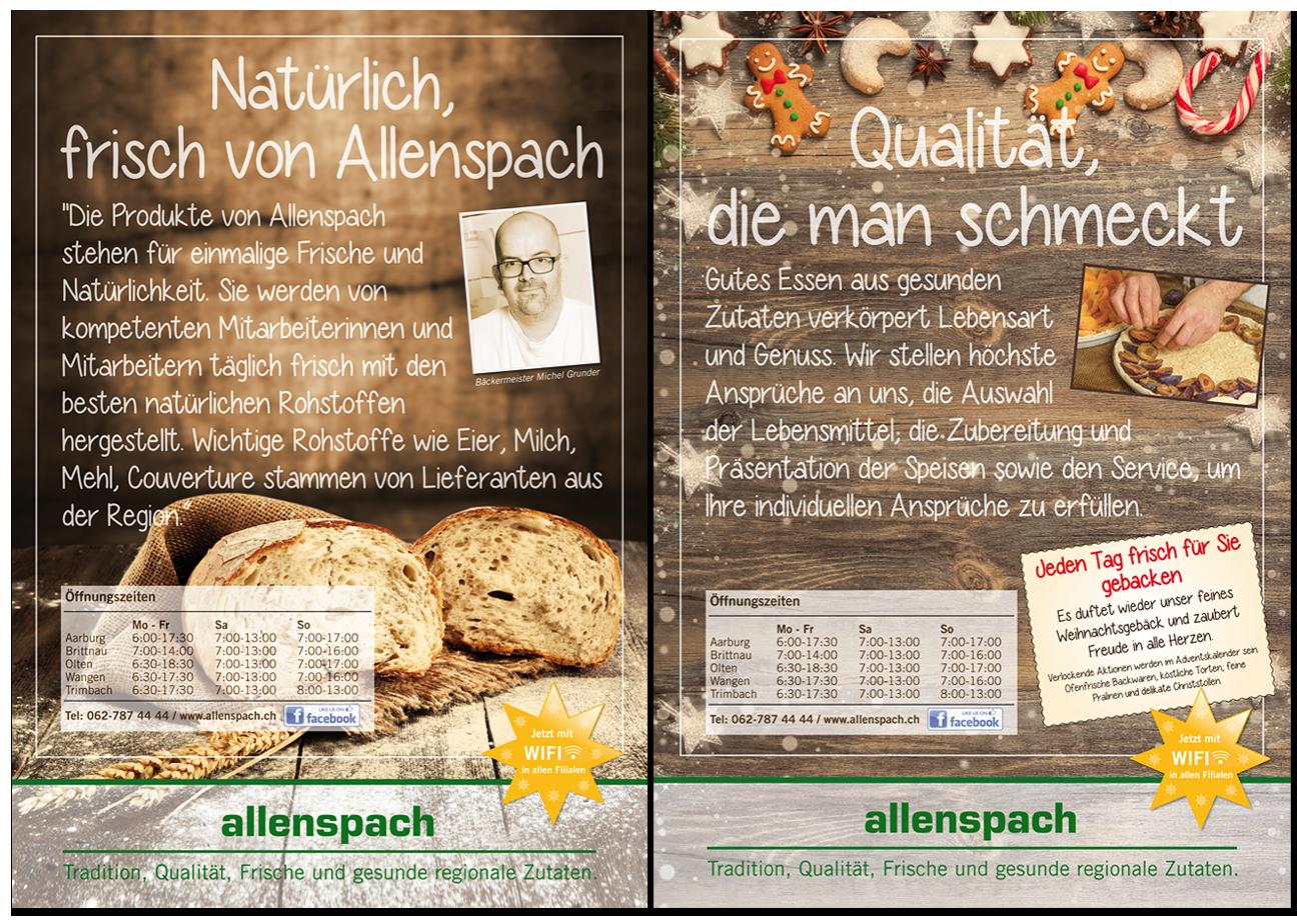 Plakat Bäckerei Allenspach