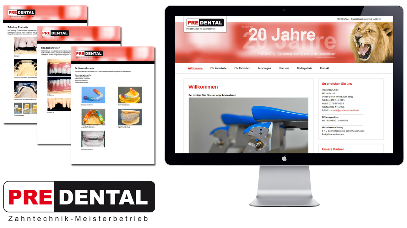 Predental Zahntechnik Corporate Design